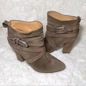 Belle by Sigerson Morrison Green Suede Booties